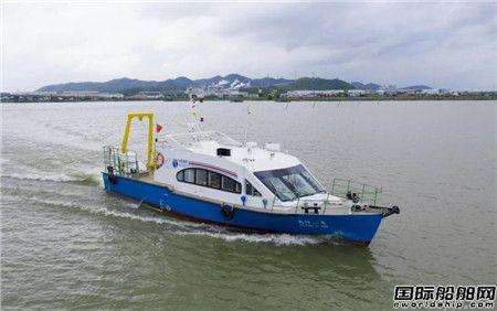 江龙船艇承建国内地矿系统首艘地质调查船顺利试航