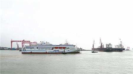 广船国际建造阿尔及利亚豪华客滚船出海试航