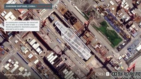 中国第3艘航母建造进度曝光!美国公布卫星照