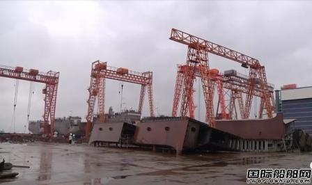 """和泰船舶2艘""""武汉型""""江海直达船完成分段建造"""