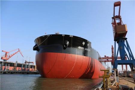 北船重工为裕民航运建造又一艘VLOC出坞