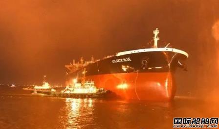 新时代造船两艘船同日下水庆双节