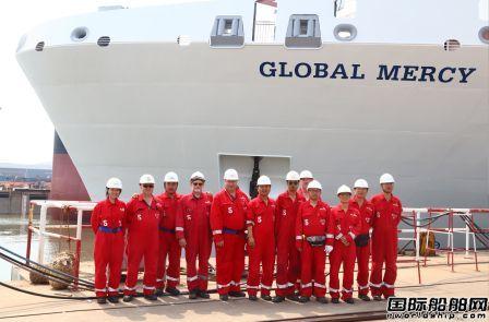 """中国船厂建造全球最大""""海上医院""""首次亮相"""