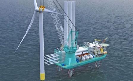 合同签了!中集来福士将建造全球最大风电安装船