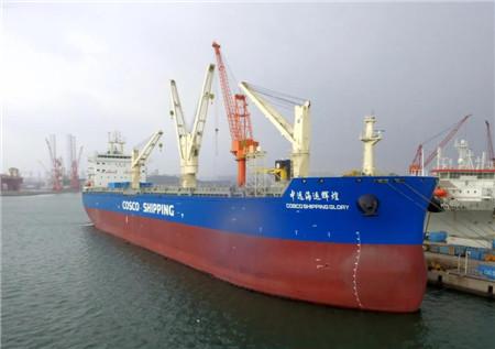 大连中远海运重工6.2万吨多用途纸浆船顺利完成试航