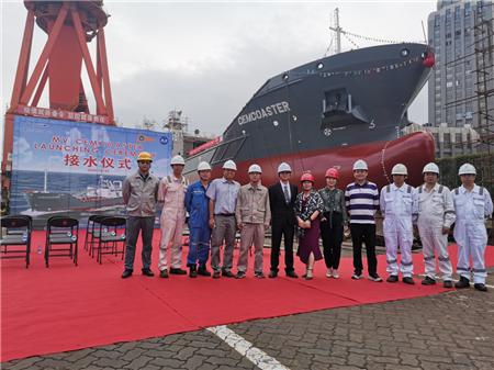 东南造船一艘4650吨水泥船顺利下水