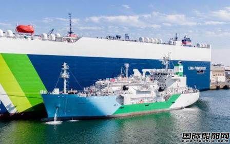 """日本首艘LNG加注船""""Kaguya""""号完成首次船对船供气作业"""
