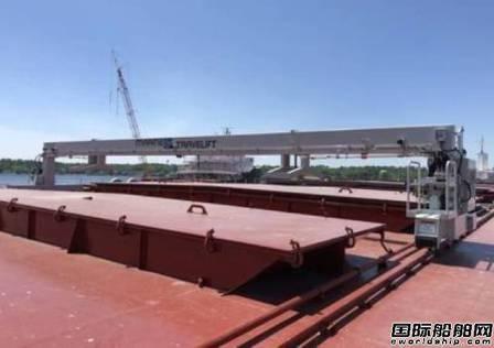 Marine Travelift为美国新造驳船配套舱口起重机
