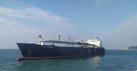 """蛇口友联完成LNG船 """"波托维内""""轮海上货仓氮气置换"""