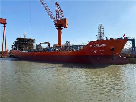 江苏海通四艘船同日下水
