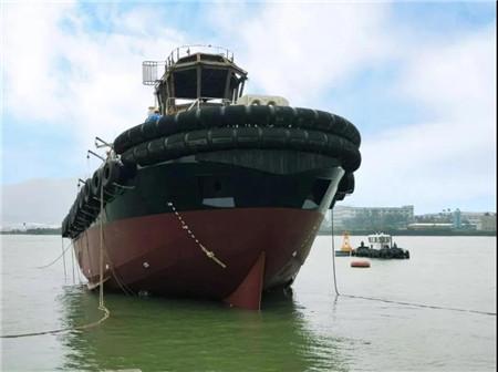 显利造船一艘全回转拖轮下水