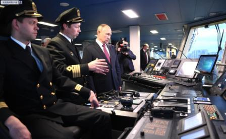 全球最大柴电动力破冰船服役普京登船参观