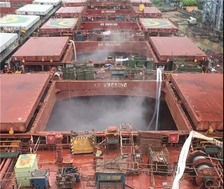 广东中远海运重工10月超高压水除锈工程提速增量