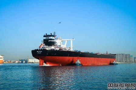 北船重工32.5万吨矿砂船5号船出海试航