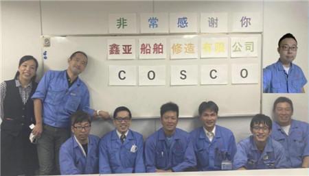 大连海事工程海工分公司日本三菱脱硫项目再获客户称赞