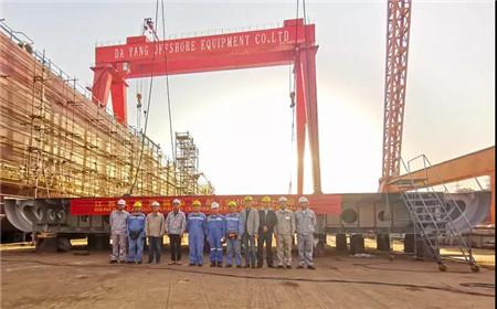 大洋海装7500DWT多用途系列船首船上船台