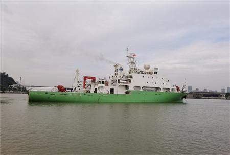 """""""实验6""""科考船进行海上航行试验"""