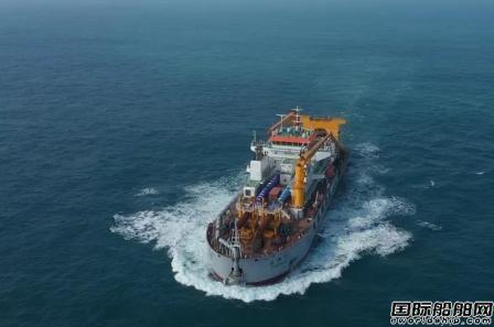 振华重工3500方自航绞吸式挖泥船长狮19完成试航