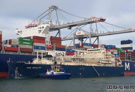 沪东中华建造全球最大LNG燃料加注船完成首次加油作业