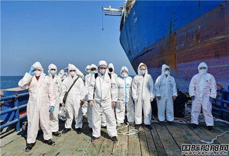 """天津中散船管公司在迪拜顺利接管""""森林""""轮"""