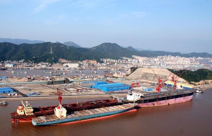 普陀六横船舶修造业逆势上扬前三季度产值54亿元
