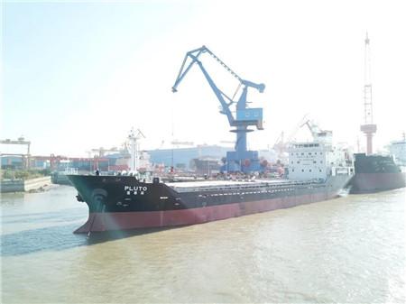 大洋海装一艘6500吨多用途船试航
