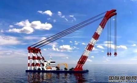 招商局重工为中国铁建大桥工程局建造2200吨起重船开工