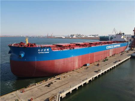 港船重工为中国矿运建造首艘VLOC开启海上首秀