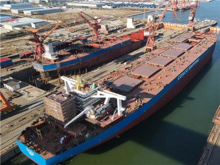 港船重工一天完成一出坞一半漂重要节点