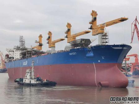广东中远海运重工完成第二艘燃煤过驳船改装项目倾斜试验