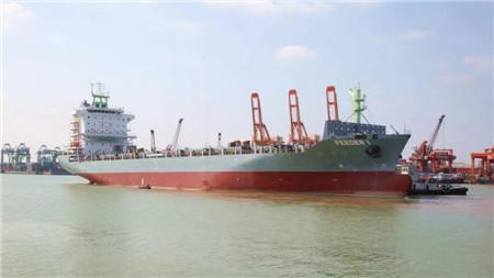 广东中远海运重工一艘1750TEU集装箱船完成倾斜试验