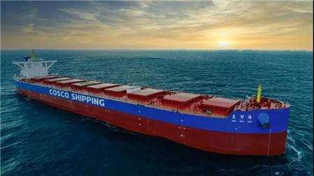 """扬州中远海运重工建造""""惠智海""""号散货船试航凯旋"""