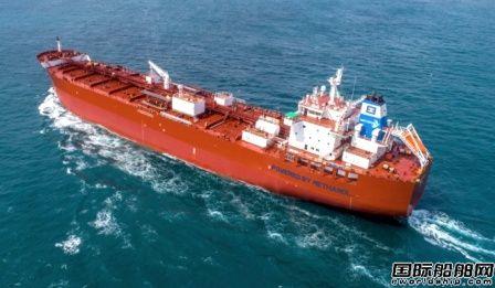 现代尾浦造船获一艘甲醇动力化学品船订单
