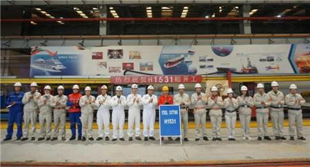 外高桥造船首制20.9万吨双燃料散货船开工建造