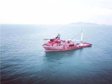 深圳招商重工完成首艘世界最先进DP3潜水支持船试航