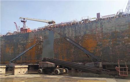 文冲修造全面推广超高压水除锈工艺向绿色修船转型