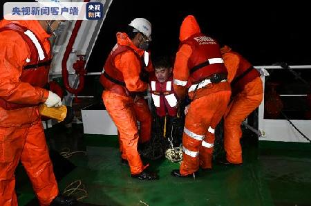 长江口两船相撞一船沉没1人遇难5人失踪