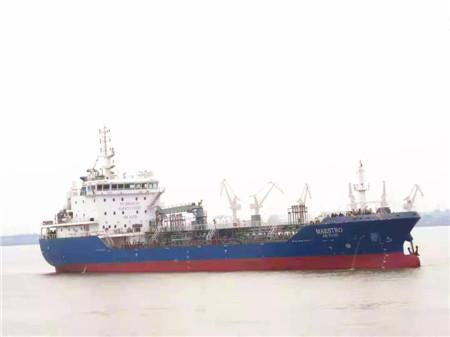 大洋海装建造8500吨加油船圆满完成试航