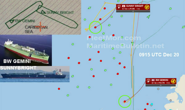 两艘LPG船在巴拿马运河锚地碰撞