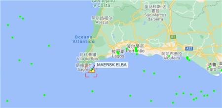 """MAERSK ELBA""轮葡萄牙海域发生机舱失火事故"
