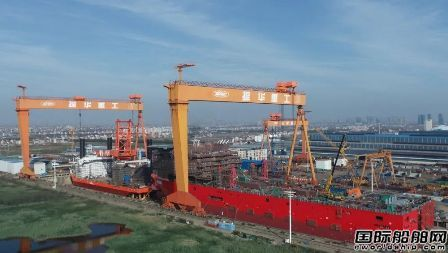 振华启东海工双船下水船坞节点计划完美收官