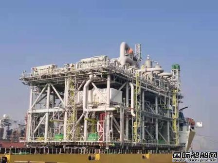 青岛武船麦克德莫特建造世界最大模块化乙二醇装置装船