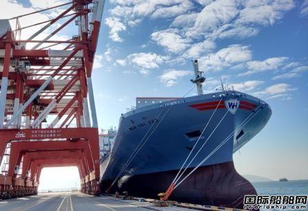 """万海航运新造3055TEU集装箱船""""如春""""轮首航蛇口港"""