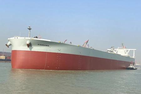 文冲修造修理K-LINE首艘VLCC提前五天交付
