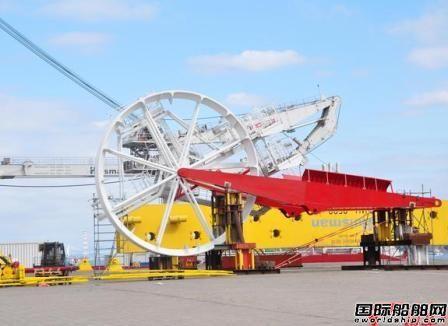 """豪氏威马为""""海洋石油286""""升级深水软管铺设系统导向轮"""