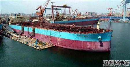 新年首艘!大船集团交付马士基油轮一艘11 5万吨油船