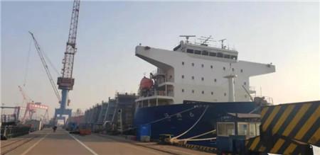 中船澄西完成国内首艘LNG罐箱大型专用运输船改装