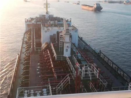 大洋海装一艘13000吨化学品船试航顺利归来