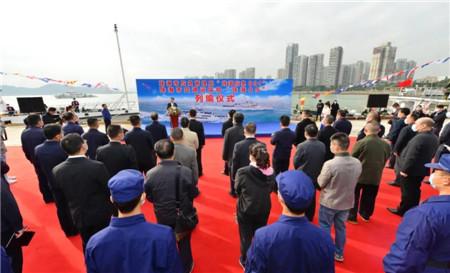 江龙船艇建造珠海两艘最大吨位交通应急执法船正式列编