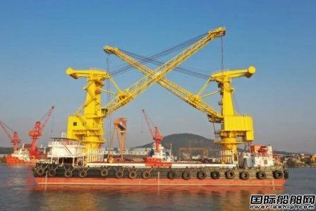 """航通船业交付65m吊杆驳船""""安力3""""号"""